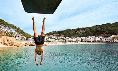 swimming in costa brava