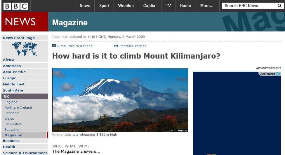 KilimanjaroBBC