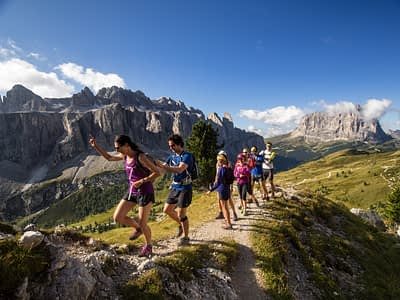 Running the Dolomites in Italy